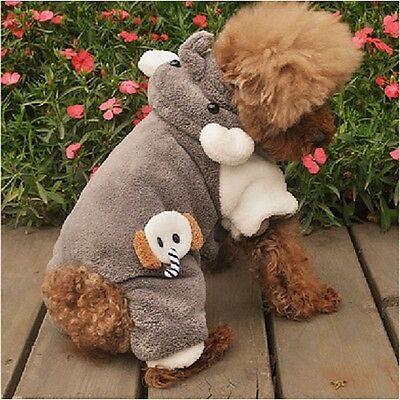 Soft and Warm Dog Pet Clothes Pants Jumpsuit free shipping For Winter Size M