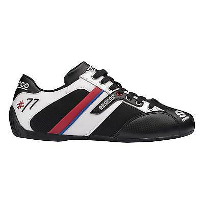 Sparco Time 77 Summer Shoes Black / White Size UK 8 / EU 42 Trainers Leather