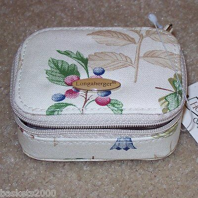 Longaberger Botanical Fields 8-Day PILL Box ~ Very Hard-to-Find New with Tags! ~