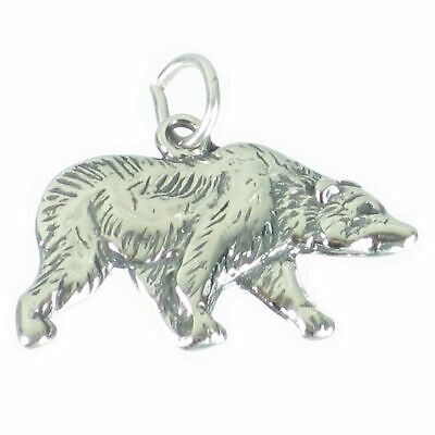 Black Bear sterling silver charm .925 x 1 Bears charms SSSC998