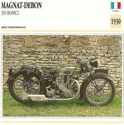Vintage 1930 Magnat-Debon 350 BOSSC2 High Performance French Motorcycle Photo/Tr