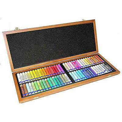 Inscribe Artists Gallery Artists Oil Pastels 72 Colour Wooden Box Set