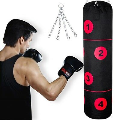 4ft Punch Bags Heavy Duty Kick Boxing Training Punching Bag Muay thai Karate MMA