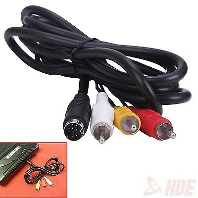 6 ft. Composite RCA Audio Video AV Connection Cord Cable for Sega Genesis 2 or 3