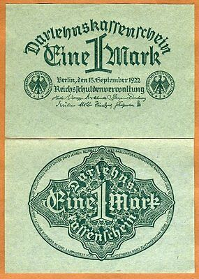 Germany, 1 Mark, 1922, P-61 (61a), UNC
