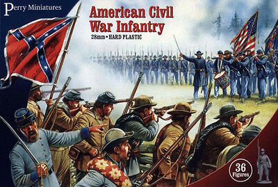 Perry Miniatures American Civil War Infantry Miniatures (36) PMP ACW01 Brand New