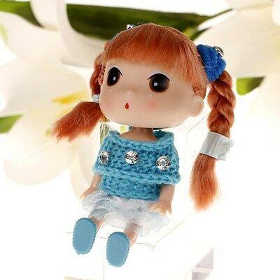 New Blue Korea Ddung Dolls Cell Phone Backpack Keychain Girls Baby Gift 12CM A15