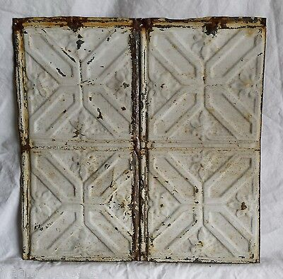 "12"" x 12"" Antique Tin Ceiling Tile *SEE OUR SALVAGE VIDEOS* Vintage Stone Ta3"