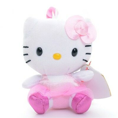 Original TY Collection Pink Lace Hello Kitty Plush Bean Plush Doll Toy 3'' New
