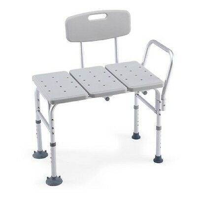 Transfer Bench Adjustable Height, Lightweight Transfer Bench -Back Non-slip Seat