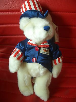 HRC Hard Rock Cafe Hollywood 4th July Teddy Bear 2001 Made By Herrington LE192