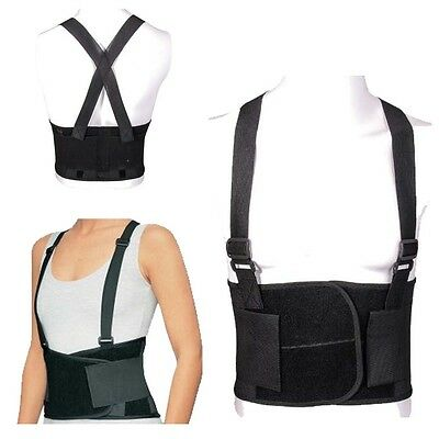 .Back Support Lumbar Brace Belt Double Pull Strap Lower Pain Posture Corrector L