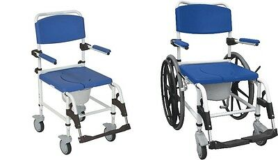 Drive Medical Aluminum Shower Commode Mobile Chair, With choice of wheels!