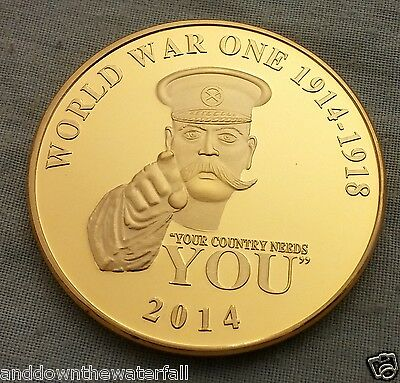 The Great World War I Gold Coin 100th Year Anniversary Military Medal ii London