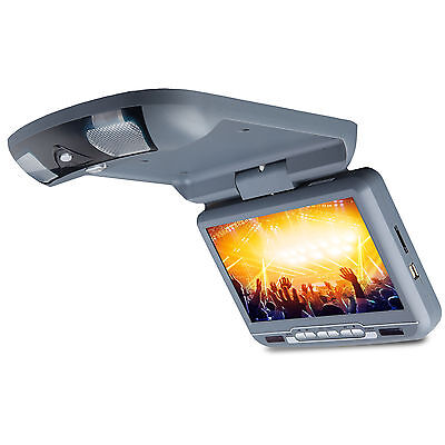 D3108V 9 inch Grey Car Flip down Monitor with DVD Player Overhead E Speaker IR