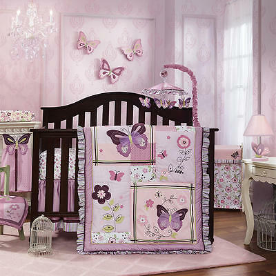 Lambs & Ivy Butterfly Lane 5 Piece Bedding Set
