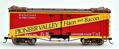 Bachmann On30 Scale Train Reefers Pioneer Valley Ham & Bacon 27403