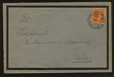 Switzerland  mourning  cover  local use  1923        KL0811