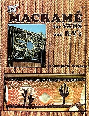 Macrame for Van's and RV's Vintage Instruction Book NEW 1979 Pillow Curtains