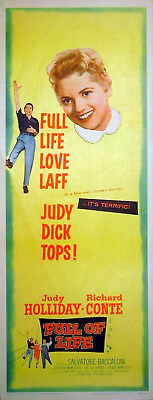 FULL OF LIFE 1957 Judy Holliday Richard Conte Salvatore Baccaloni INSERT POSTER