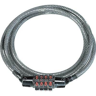 Kryptonite Combination Coil Cable Bike / Cycle Lock  CC4 5mm x 120 cm