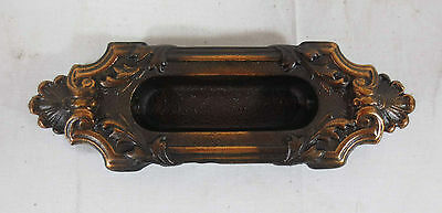 Antique Ornate Shapely Cast Iron Window Pull,Pulls w/ Japan Finish