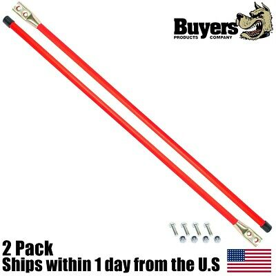 "2PK 27"" Snow Plow Guide Stick Markers w Bolts Western 62265 Boss BAX0005"