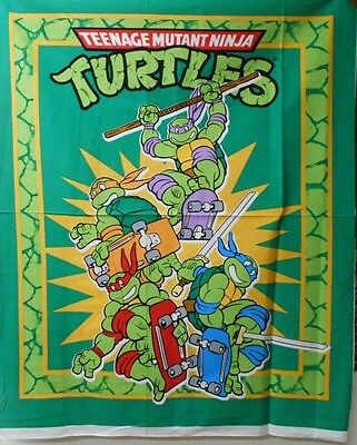 "1 Teenage Mutant Ninja Turtles ""TMNT Retro"" Wallhanging/Lap Quilt Panel  Fabric"