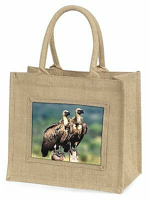 Vultures on Watch Large Natural Jute Shopping Bag Birthday Gift, AB-92BLN