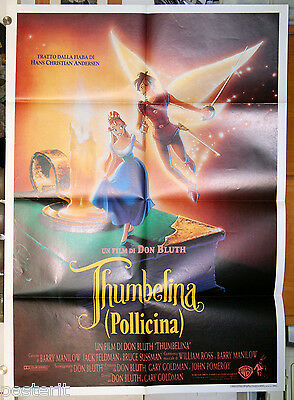 manifesto 2F originale THUMBELINA - POLLICINA film d'animazione Don Bluth 1994