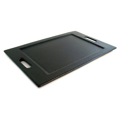 Bugambilia Black Resin Coated Medium Rectangular Tray With Handles TU003BB