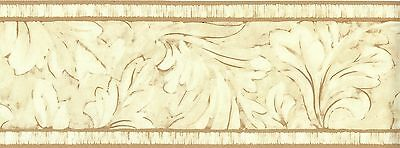 FS040101B Oak Leaf Acanthus Tan Wallpaper Border