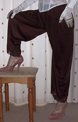 Vintage style  brown nylon pantie slip~pettipants~culottes~bloomers  20~22 BNWT