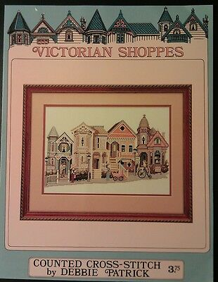 Victorian Shoppes Cross Stitch Pattern Booklet Stores Street Town City