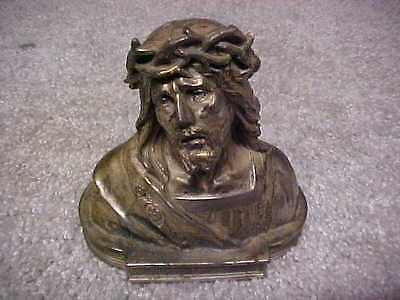 antique SILVER metal BUST OF JESUS CHRIST ,very old,OUR LORD,estate