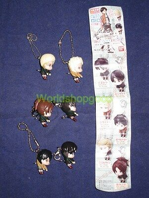 Set of 6 Attack on Titan Figure Keychain 3cm