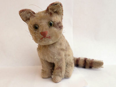 """VERY OLD EARLY SMALL STEIFF CAT 5.5"""""""