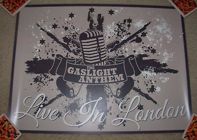 THE GASLIGHT ANTHEM concert gig poster LIVE IN LONDON handwritten