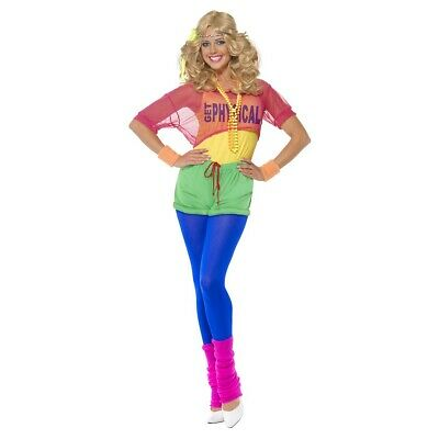 80s Workout Costume Adult Outfit Halloween Fancy Dress
