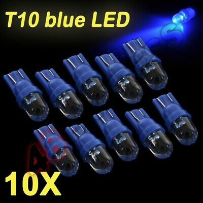 10Pcs Car Truck T10 blue LED Dashboard Dash Wedge Side Light Bulbs New