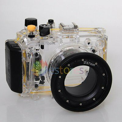 Meikon 40m/130ft Waterproof Housing Case For Sony RX100 Diving Swimming【UK】