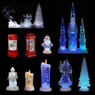 Christmas battery operated colour changing swirling glitter candle picclick uk - Appealing christmas led candles for christmas decorations ...