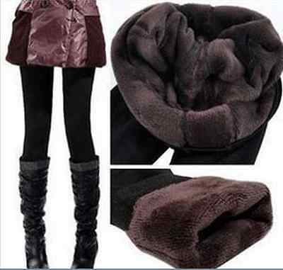 Black Woman Winter Bamboo Carbon Fiber Double Thermal Warm Tights Pants