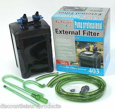 Jebao External Aquarium Fish Tank Filter System - 502/503/402/403 INCLUDES MEDIA