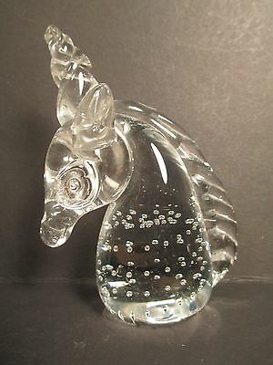 Crystal Art Glass Unicorn Figurine Figure Paperweight Fantasy, Mythical, Magical