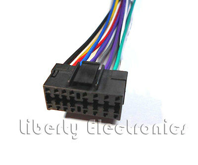 new 16 pin auto stereo wire harness plug for jvc kdhdr20