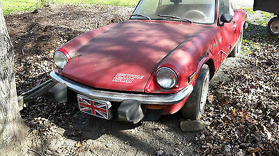 Triumph : Spitfire Convertible SELLING TWO TRIUMPH SPITFIRES, 1975 SPITFIRE, 1978 parts car with hardtop