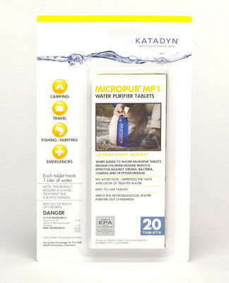 Katadyn Micropur Purification Tablets (Package of 20) 8014996