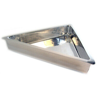 "Aluminum Coated Triangle Buffet Serving Bowl 19.5"" SH-150"