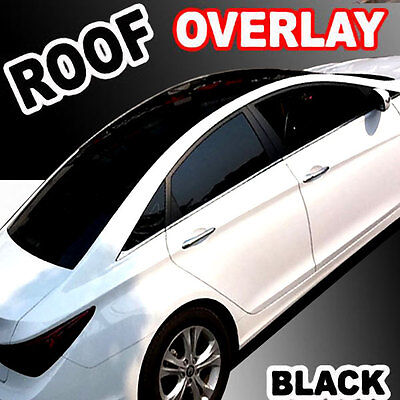 "Gloss Black-Out Moon Roof Overlay Tint Vinyl Top Cover Wrapping Film 48""x60"" C15"